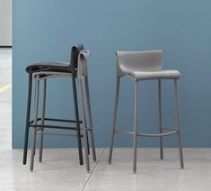 This is the Duca H75 Barstool with aluminium legs and Polypropylene seat.