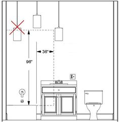 Bathroom Lighting Recommendations plan a mechanical exhaust system, vented to the outside, for each