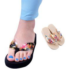Goods.Site - Deliacte Summer Women Bohemia Sandal Platform Wedges Flip Flops for lady Hot Selling May25