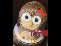 How to make an owl cake - easy 3D buttercream cake - YouTube  -  Montreal Confections