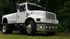 International 4700 Custom Dually new wheels Mini Trucks, New Trucks, Custom Trucks, Pickup Trucks, Medium Duty Trucks, Heavy Duty Trucks, Heavy Truck, International Harvester Truck, Lowered Trucks