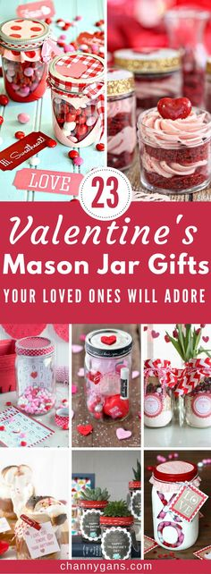 These valentines mason jar gifts are AMAZING. They are great valentines gifts to give to your loved ones! #valentinesgifts #masonjargifts #valentinesdaygiftideas