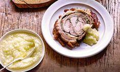 'I love porchetta - a deboned pork roastthat's a staple in Italy. Ask your butcherto prepare one for you,' Saturday Kitchen host James Martin.