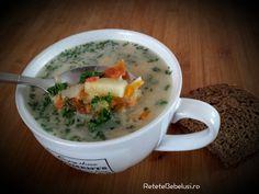Reteta de supa de Cartofi cu Smantana se poate introduce de la varsta de 9 luni. Merge foarte bine cu crutoane.