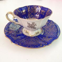 BEAUTIFUL VINTAGE ALKA BAVARIA TEA CUP AND SAUCER SET STAMPED AND NUMBERED GREAT #AlkaBavaria