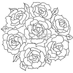 Valentines Day Coloring Pages Winnie the Pooh Printable Flower Coloring Pages, Valentine Coloring Pages, Floral Embroidery Patterns, Drawings Of Friends, Art Carved, Sketch Design, Floral Illustrations, Digi Stamps, Rose Bouquet