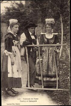 Costumes du Faoue, Pontivy et Quimperle Bretagne