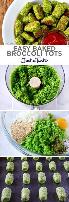 Easy Baked Broccoli Tots recipe from http://justataste.com #healthy #vegetarian #recipe