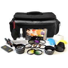 Complete Lens Filter Bag & Accessories for Nikon  D3200 D3100 D3000 D5100 D5200