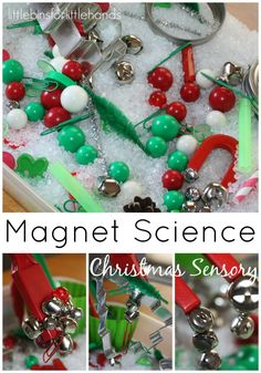 Christmas Sensory Bin Magnet Science Sensory Play