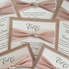 Rose gold wedding invitations, wedding invites, wedding invitations!
