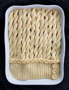 'Sweater' pie Baked Pie Crust, Pie Crusts, Babette's Feast, Pie Game, Pie Crust Designs, Pie Decoration, Pies Art, Kinds Of Pie, Good Pie