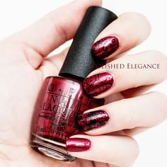 Red and black skittle stamping