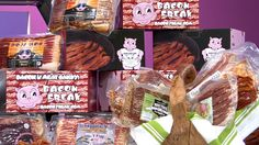 SINK YOUR TEETH INTO BROWN SUGAR BACON, JALAPENO BACON, AND OTHER DELICIOUS FLAVORS DELIVERED TO YOUR DOOR ONCE A MONTH FOR A YEAR! FROM BACONFREAK.COM. 1 JERKY SAMPLE PACKAGE, AND PANCAKE PACK INCLUDED. #PriceIsRight #Bacon #Breakfast #Yum