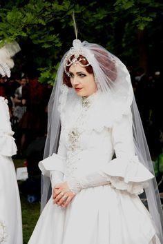 #Gothic #bride in white