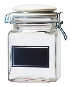 For candy storage in the kitchen or bathroom essentials, this handy glass canister adds a practical storage solution and a touch of the simple life to your décor.