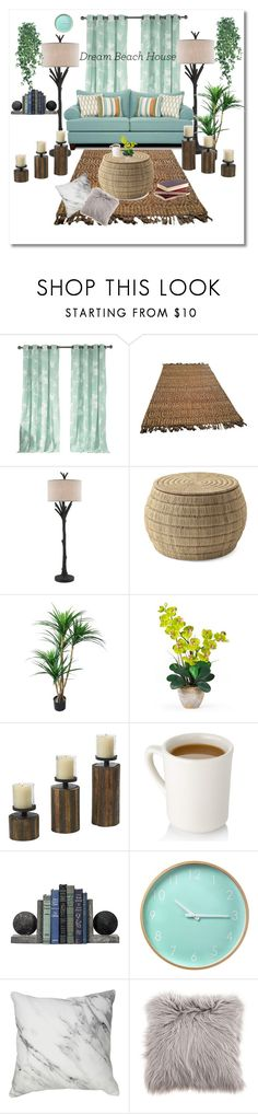 """""""#116"""" by pureenvivi ❤ liked on Polyvore featuring interior, interiors, interior design, home, home decor, interior decorating, Kensie, Serena & Lily and Nearly Natural"""