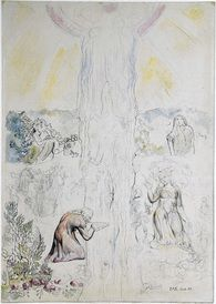 William Blake, Dante in the Empyrean, Drinking at the River of Light. Illustration to the Divine Comedy, William Blake, Etching Prints, Dante Alighieri, Prophetic Art, Visionary Art, Watercolor Illustration, Great Artists, Art Drawings, Poet