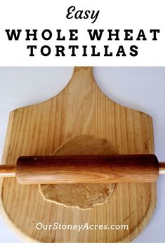These healthy whole wheat tortillas taste so good. They are super simple to make and are perfect as burritos or enchiladas. Quick Recipes, Real Food Recipes, Yummy Food, Healthy Recipes, Delicious Recipes, How To Make Bread, Food To Make, Wheat Bread Recipe, Whole Wheat Tortillas