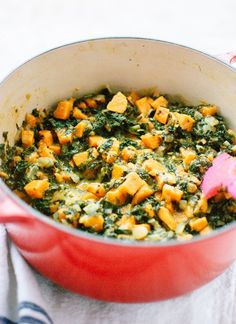 Braised and curried kale and sweet potato - cookieandkate.com