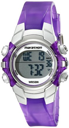 Timex Women's T5K816M6 Marathon Digital Display Quartz Purple Watch