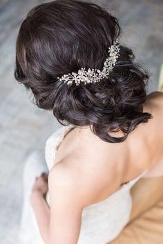 Peigne à cheveux mariée morceau de cheveux de mariée par EoliBridal