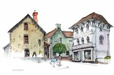 Chris Lee - great architecture travel sketching | pen & ink