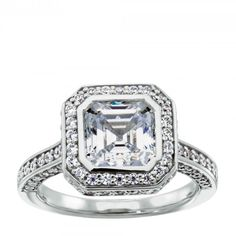 The Adelaide engagement ring is inspired by the glamour of the 1920s. The bezel…
