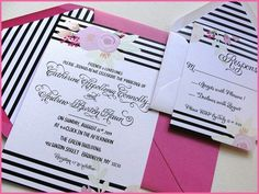 New Invitations and Save the Dates with Punchpaper have arrived!! Here is a look at one of the invitations..matching save the dates are available  We will be sharing more so be on alert. #Calligraphyinvitation #Calligraphy  #invitation #weddingcalligraphy  #wedding #weddinginvitation  #weddingideas  #weddinginspiration  #gettingmarried  #stripes  #floral #pink #nationwidecalligrapher  #CalligraphybyJennifer
