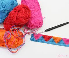 Tapestry häkeln! Eine farbenfrohe Häkelmethode! http://www.wollplatz.de/blog/tapestry-haekeln/