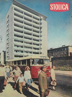 Warszawa - dwunastokondygnacyjny budynek proj. Jerzego Baumillera, Zygmunta…
