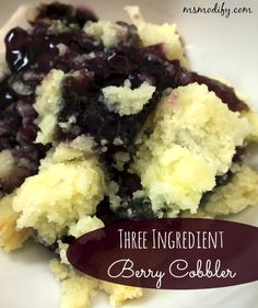 (gf) 3 Ingredient Berry Cobbler... It doesn't get much easier!