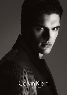 ck001 Matthew Terry is a Vision in Black & White for Calvin Klein Collection Fall/Winter 2013 Campaign