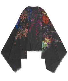 garden flowers shawl. liberty.