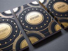 gold foil stamped business cards