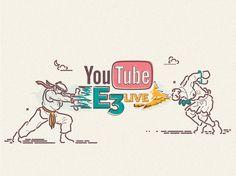 YOUTUBE E3 LIVE on Behance