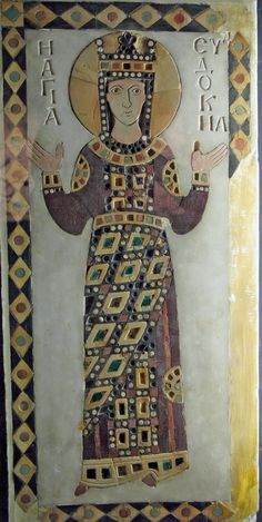 St. Eudokia, Byzantine, ca. 907,  Monastery of Constantinople of Constantine Lips Istanbul, Turkey.