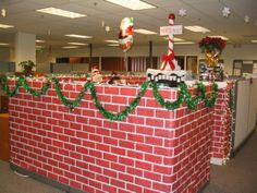 office cubicle christmas decoration. This Past Week My Job Just Finished A Cubicle Competition. Each Time Had To Decorate With Holiday Theme. Theres 10 Teams And Themes. Office Christmas Decoration M