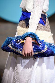Daniela Gregis at Milan Fashion Week Fall 2016 - (Details) Crochet Bag Tote