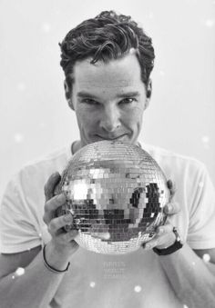 A little photo edit made the soccer ball into a disco ball. Benedict Cumberbatch.