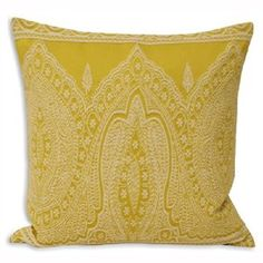 Paoletti Paisley Embellished Cushion Cover, Yellow, 50 x 50 Cm: Amazon.co.uk: Kitchen & Home