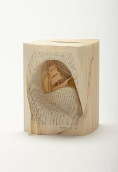 Famous Novels Turned into Book Art - Two Years Vacations by Jules Verne