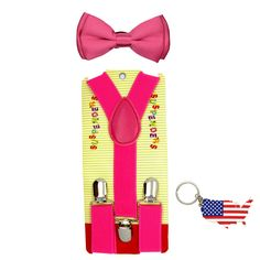 Kids Braces 4 Clips Heavy Duty Y Back Adjustable Elastic 11 Colors 5-12 Years Boys Braces With Strong Metal Clips