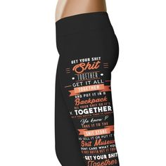 Get Your Shit Together - Rick and Morty Leggings - Check out these awesome Rick and Morty Inspired Leggings! - Click to learn more!