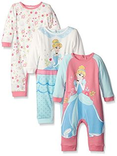 Disney Baby Coveralls Of Cinderella, Pink, 6 Months (Pack of 3 snaps on back. 7 or 8 snaps on leg. Disney Baby Clothes, Disney Outfits, Baby Disney, Girl Outfits, Disney Shirts, Baby Ariel, Ariel The Little Mermaid, My Baby Girl, Baby Girls