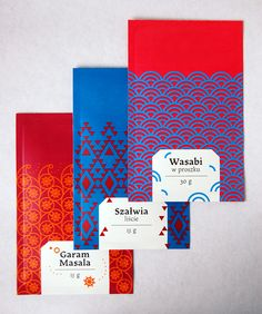 Oriental rice and spices packaging on Behance