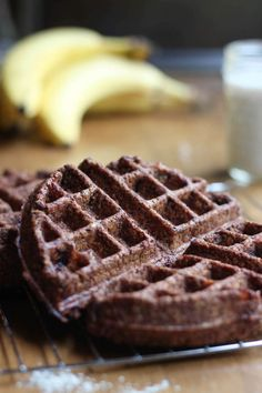 Made with hearty oats and sweetened with natural sweeteners, these Vegan Chocolate Oat Flour Waffles are a healthy way to enjoy chocolate for breakfast! Chocolate Waffles, Chocolate Oats, Chocolate Chips, Vegan Foods, Vegan Snacks, Vegan Lunches, Vegan Dinners, Waffle Recipes, Gourmet Recipes