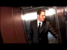 Got 54 seconds? Watch what happens when I'm alone in an elevator: Im Alone, Michael Buble, Morning Show, Elevator, Mornings, About Uk, Shit Happens, Watch, Videos