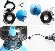 Lamp shade tutorial monsterscircus DIY project: Wire lamp shade