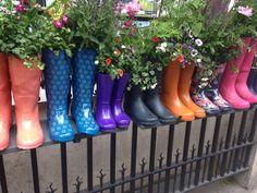 #RHS The Chelsea Flower Show 2014   Come reciclare con i #fiori gli stivali di gomma.